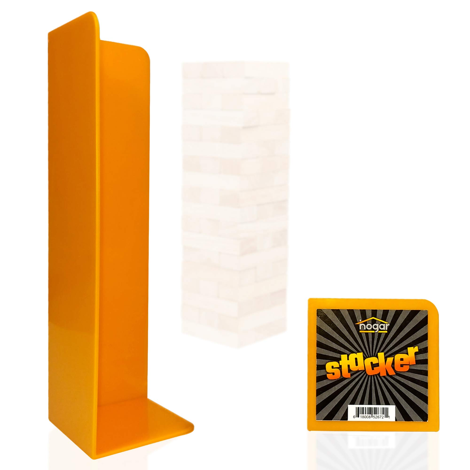 Hogar Wood Block Tower Stacking Tray Game Accessory Ages 6 to Adult - Compatible with Tipsy Tower, Lewo, WE Games and More by Hogar