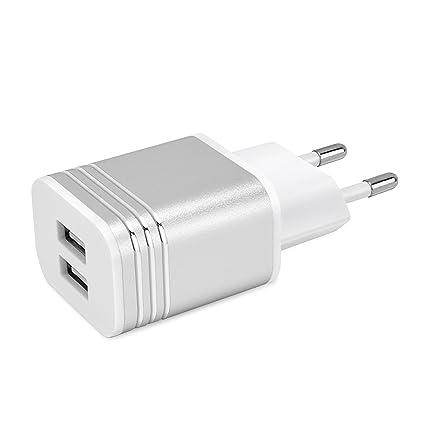 Elinker Cargador USB 3.1A (Cada 2 * 2A) Adaptador de Caragdor USB 2 Puertos para Apple Iphone7 7 Plus 6S 6 6 Plus 5S 5 5S, Ipad Air Ipod Samsung ...