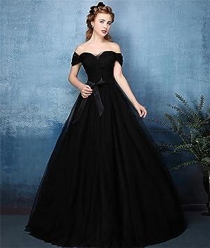 ELEGENCE-Z Vestido De Novia Negro Sin Tirantes Atractivo del ...