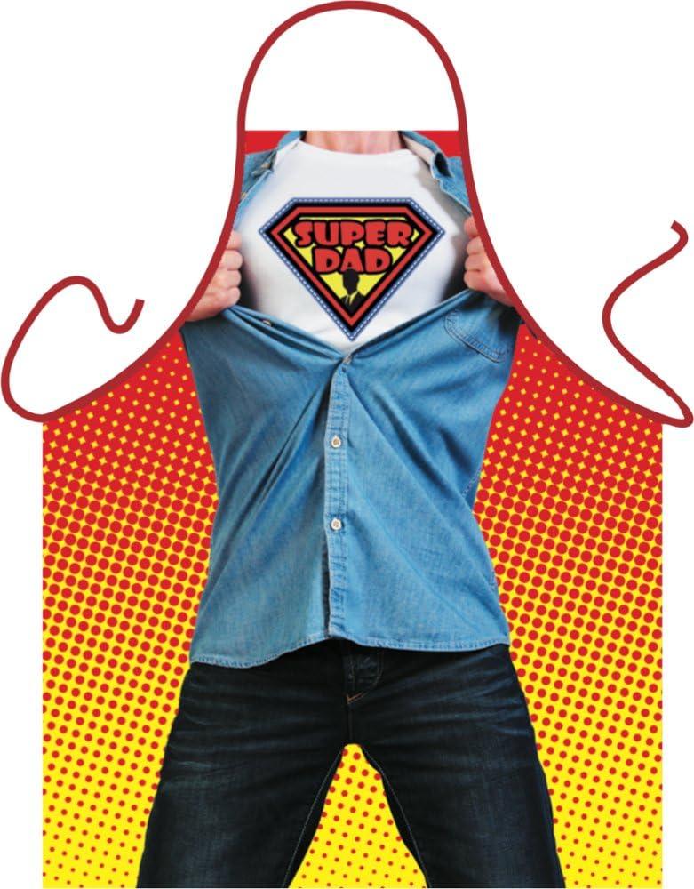 Super Dad父の日ギフトメンズ面白い料理キッチンエプロンBBQ ITATI