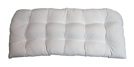 Amazon.com: Interior/exterior Tufted Cojín para Loveseat ...