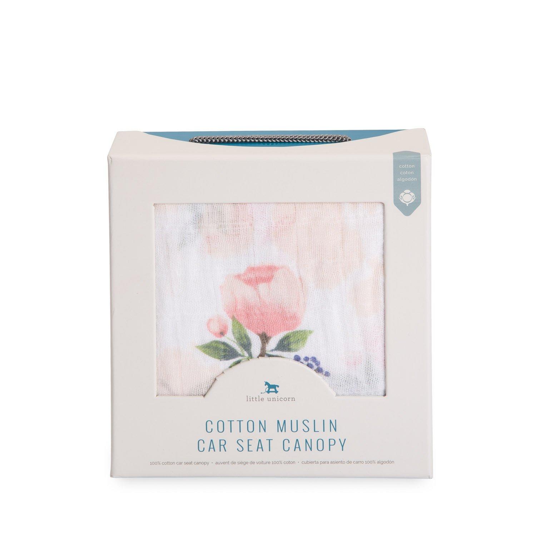 Amazon.com: Little Unicorn Cotton Muslin Car Seat Canopy - Watercolor Rose: Baby