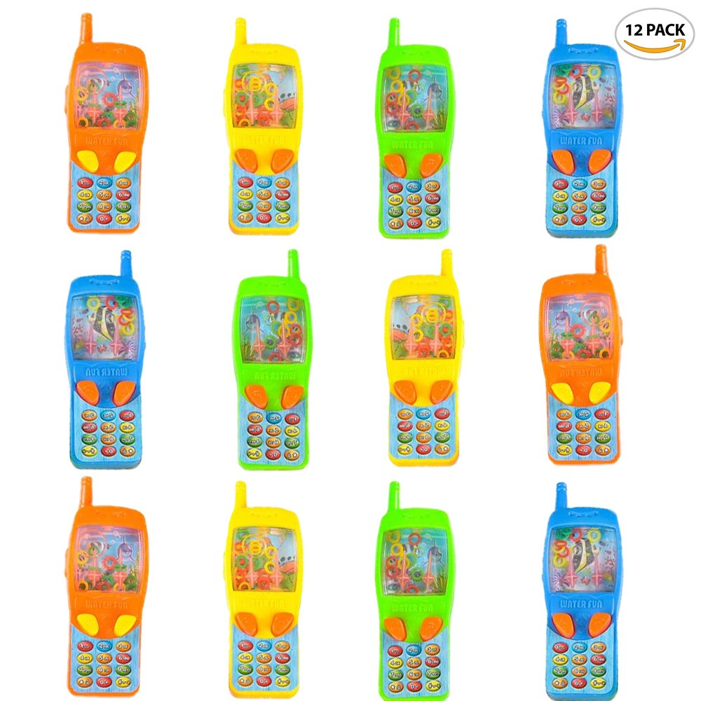 """ArtCreativity 4"""" Cellphone Water Ring Game (Pack of 12)   Colorful Handheld Phone Game for Kids   Fun Birthday Party Favors for Children/ Contest Prize/ Great Gift Idea for Boys, Girls, Toddlers"""