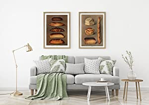 Bread Decor Bakery Wall Art Bread Print Baking Prints Bakers Decor Gift for Baker Kitchen Baker Kitchen Baking Decor Baking Equipment (5 x 7)