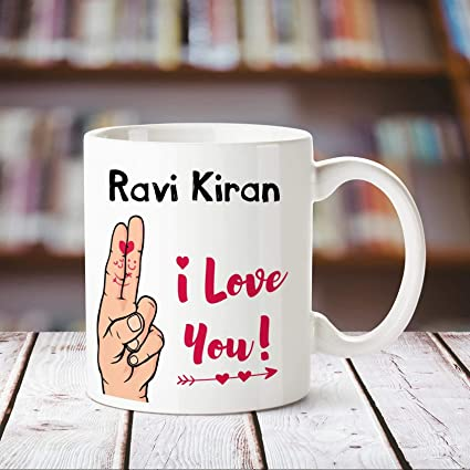 Buy Huppme I Love You Ravi Kiran Printed Personalized Coffee