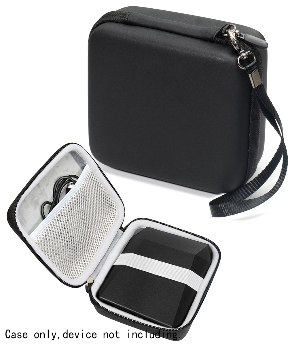 Protective Case for Fujifilm Instax SP-3 Mobile Printer by WGear, Mesh Pocket for Cable and Printing Paper (Black) by WGear