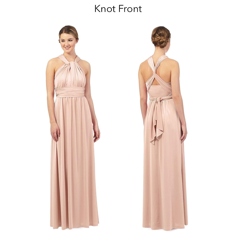 Debut Womens Light Pink Multiway Evening Dress