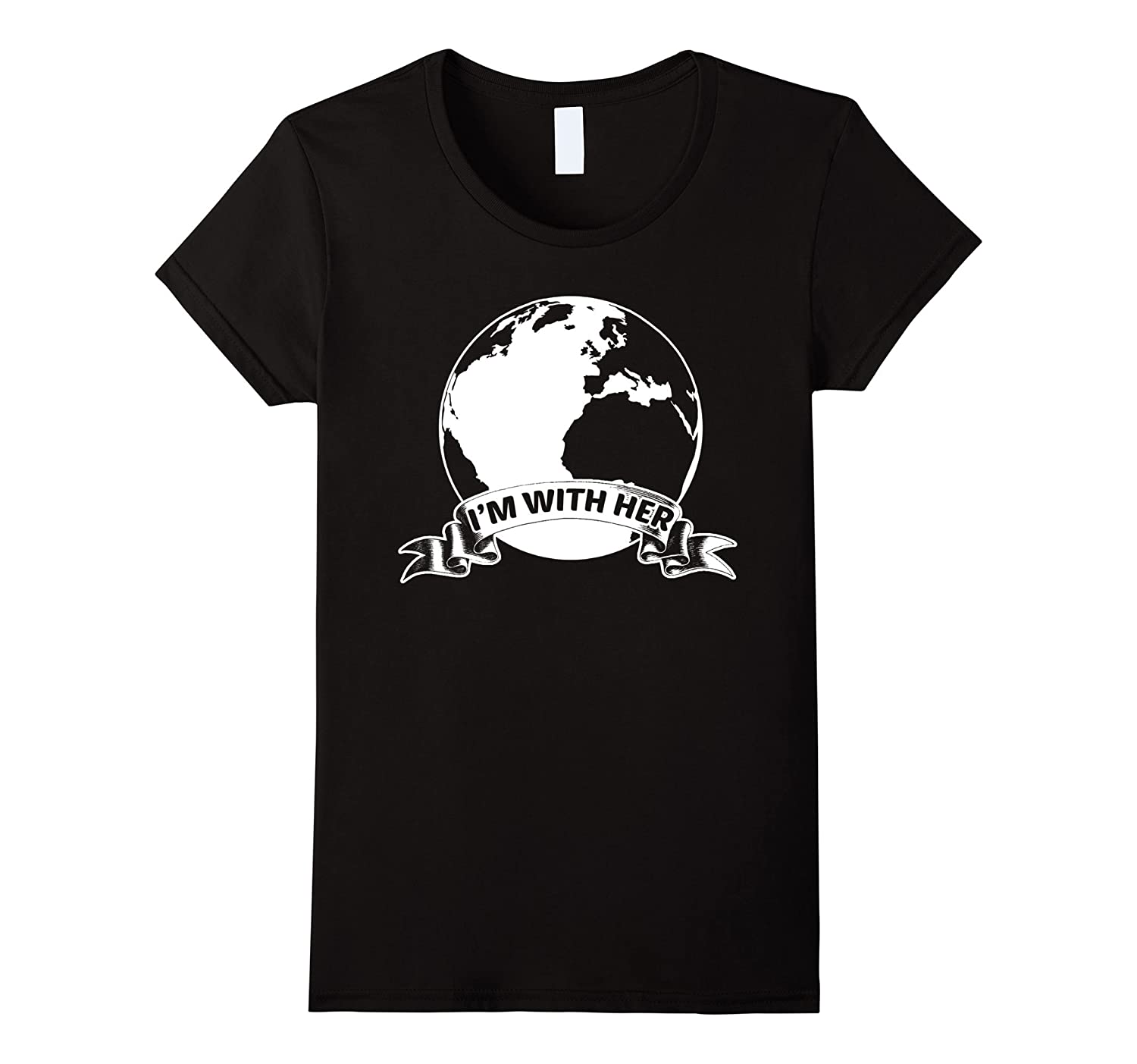 I'm With Her Mother Earth Funny T-Shirt
