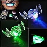 Omiky® Blinkende LED Leuchten Mund Klammern Stück Glühen Zähne Für Halloween Party Rave (Mehrfarben)