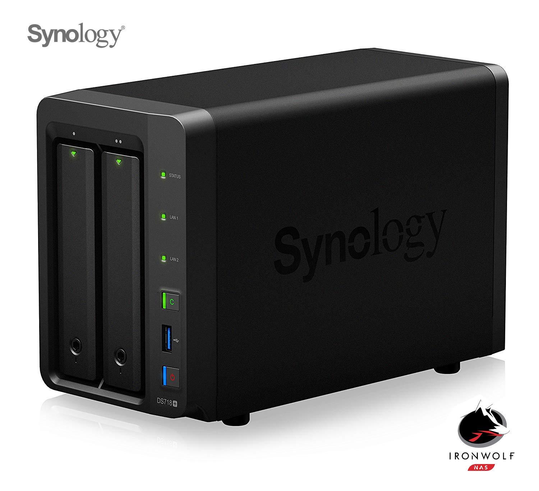 Synology DS718 6 GB NAS 24TB 2 x 12TB Ironwolf