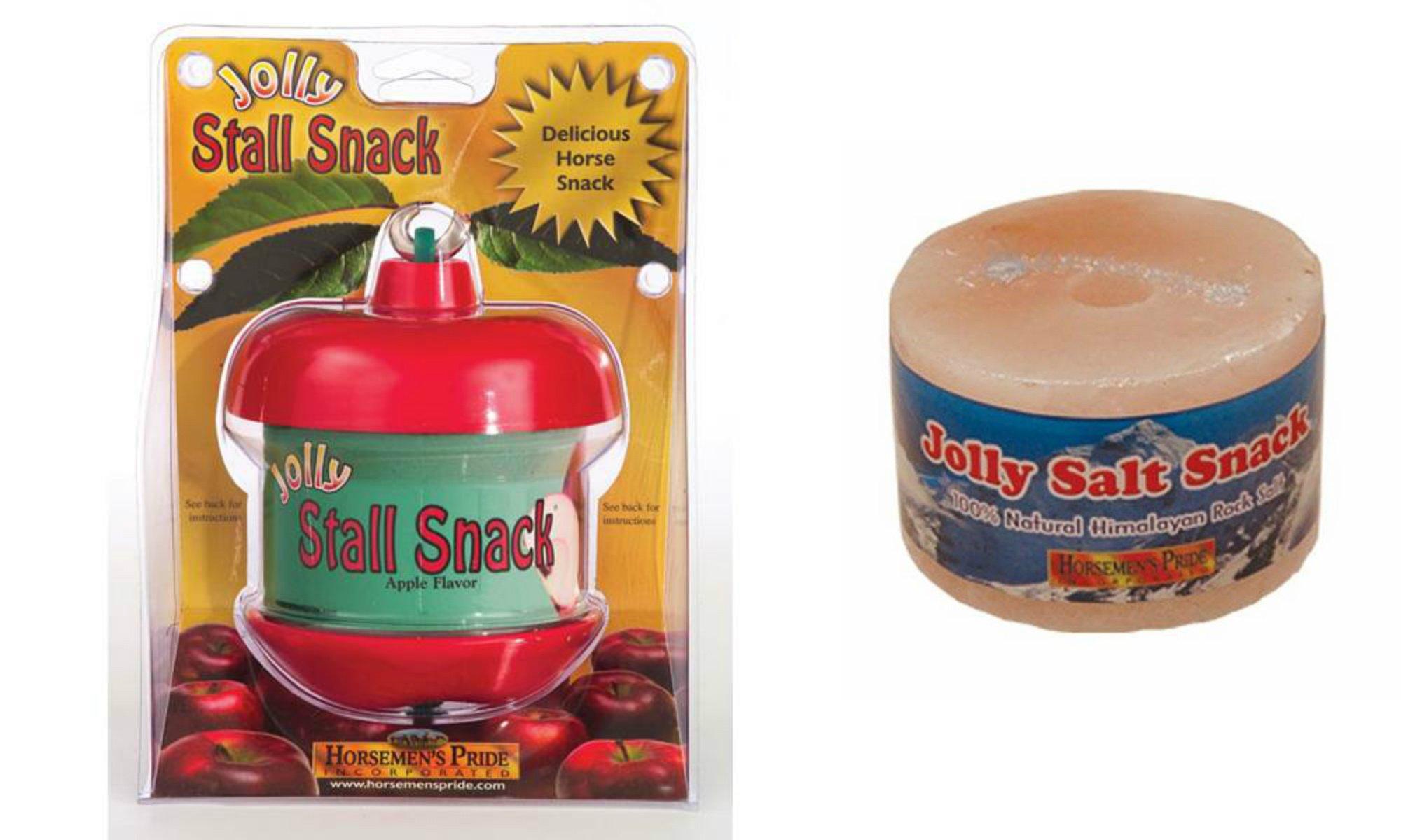 Horsemen's Pride Stall Snack Holder w/ 1 Apple Treat and 1 Himalayan Rock Salt Treat Refill