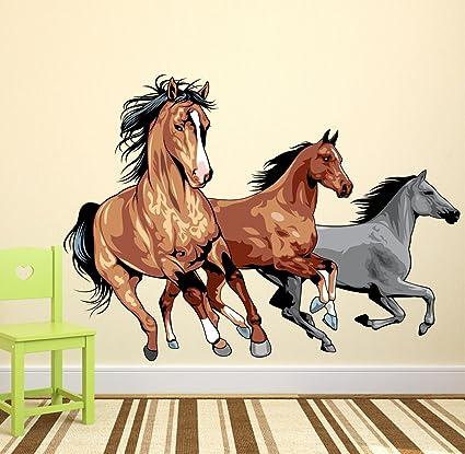 Luke and Lilly Horse Design Vinyl Wall Sticker (100 * 80cm)