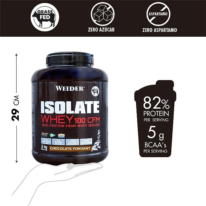 Weider Isolate Whey 100 CFM. Schokolade-Geschmack. Proteinpulver mit hochwertiges Molkenproteinisolat. Gut löslich. Bis zu 33g Eiweiß in 1 Portion. ...