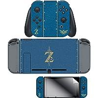"Skin & Screen Protector Breath of the Wild ""The Legend of Zelda"" Joy-Con & Dock Set, Blue - Nintendo Switch"