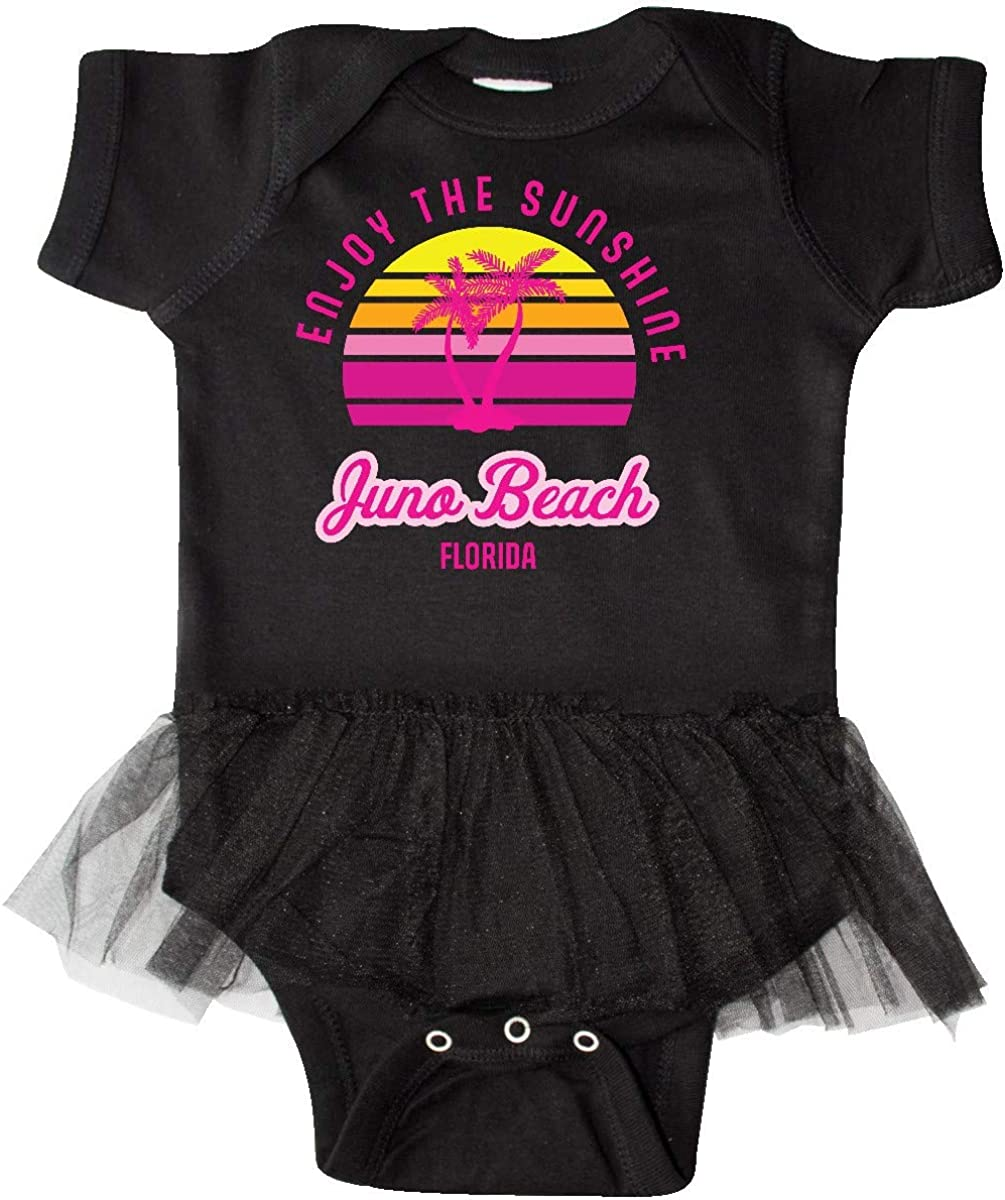 inktastic Summer Enjoy The Sunshine Juno Beach Florida in Infant Tutu Bodysuit