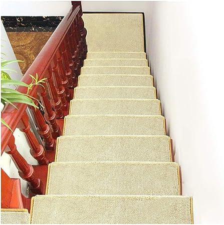 ZENGAI Alfombra de la Escalera Colección de peldaños de Escalera Interior Alfombra Antideslizante Antideslizante Peldaño de la Escalera 9 Colores (Juego de 13) (Color : A, Size : 90cmx24cm): Amazon.es: Hogar