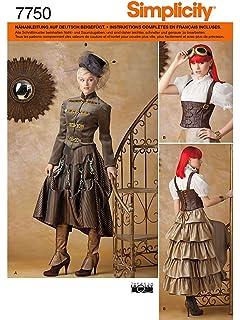 62202c7748e40 Simplicity Schnittmuster 7532 R5 Historisches Kostüm Gr. 40-48 ...