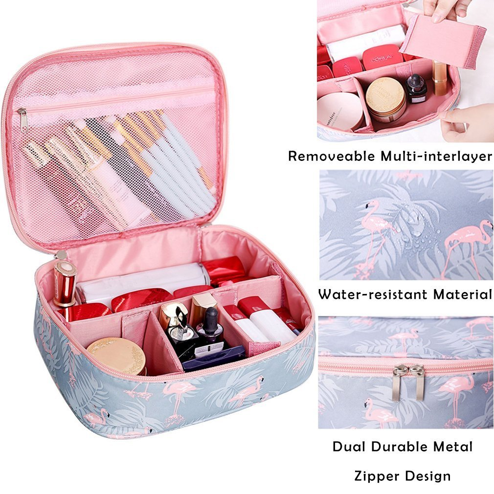 Maxtour Lazy Cosmetic Bag, Makeup Toiletry Jewelry Organizer with Zipper and Drawstrings