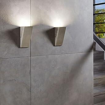Silber Verschiedene Materialien Integriert EGLO Au/ßenleuchte
