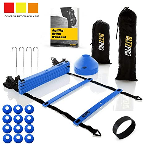 Bltzpro Agility Ladder Soccer Cones Kit- A Speed Training Equipment for  Football and Team Sports 86e3c8b1e