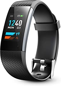 Lenovo Fitness Tracker HD, Activity Tracker Watch with Heart Rate Monitor, Color Screen Sport Smart Watch, Pedometer Watch for Women and Men