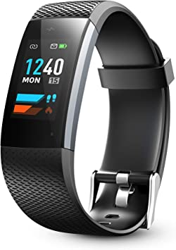 Lenovo Fitness Tracker, Original Fitness Tracker Heart Rate Monitor, Color Screen Sport Smart Watch, IP67 Waterproof Activity Tracker, Step Calorie ...