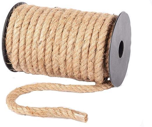 Cuerda de Yute Natural de arpillera con Cordel de c/á/ñamo de 4 mm de Grosor Advantez