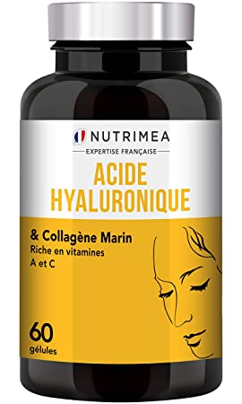 9c79df5a4a8891 ACIDE HYALURONIQUE PUR & COLLAGENE MARIN - Anti rides naturel puissant -  Restructure la peau en profondeur - Enrichi en Vitamines A & C - ...