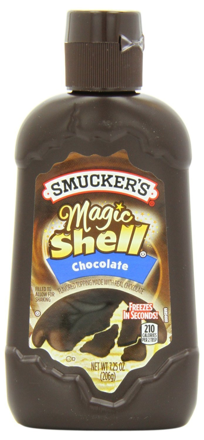 B00HN04JM0 Smucker's Magic Shell Ice Cream Topping, Chocolate Flavor, 7.25-ounce Bottle [Pack of 3] 71YyiWRsSgL