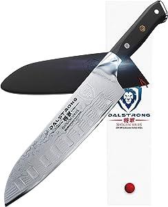 "DALSTRONG Santoku Knife - Shogun Series - Damascus - Japanese AUS-10V Super Steel 67 Layers - Vacuum Treated - 7"" (180mm)"