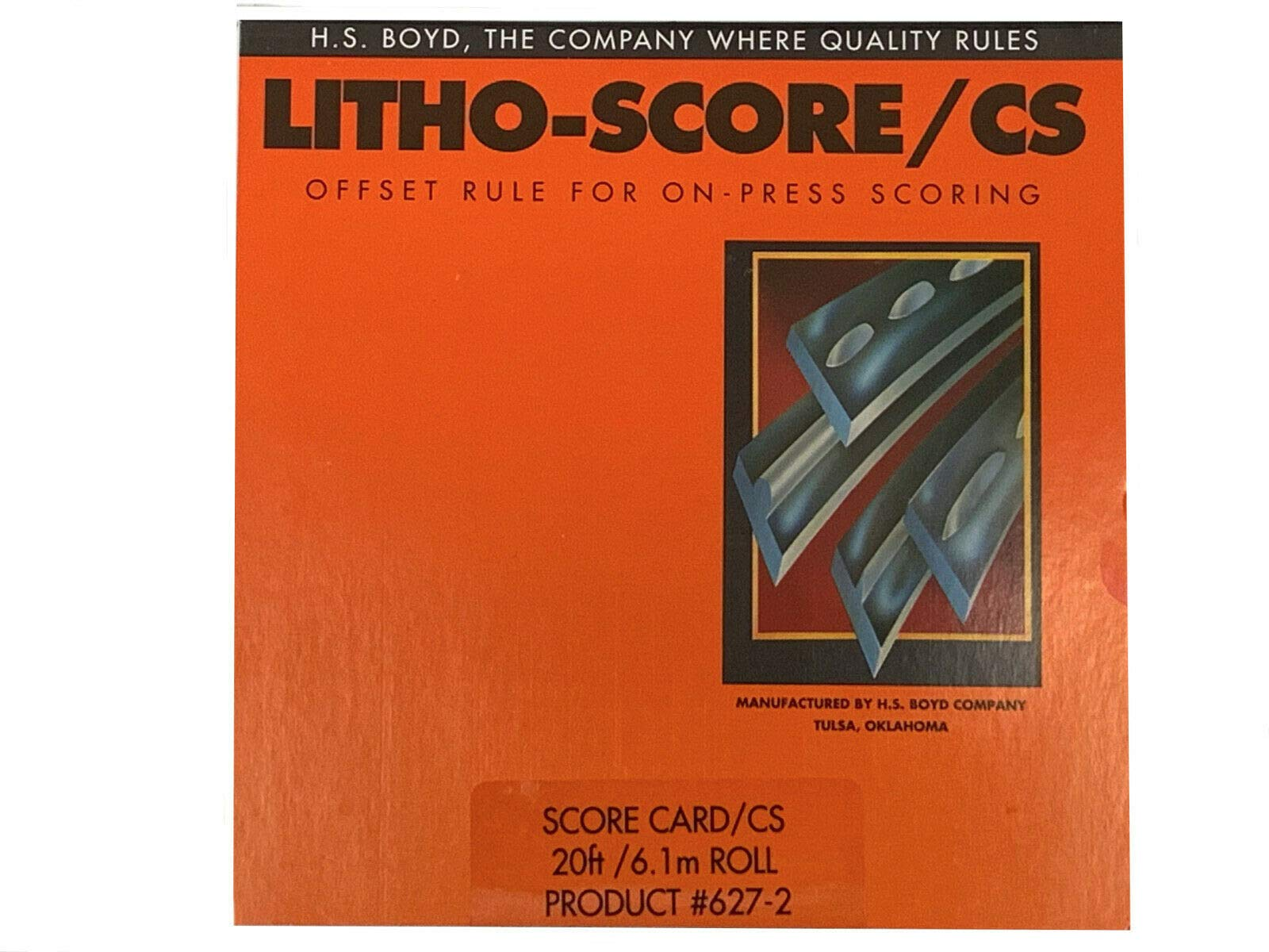HS Boyd Litho Score Card 20 feet 627-2 Offset Rule On Press Scoring by HS Boyd