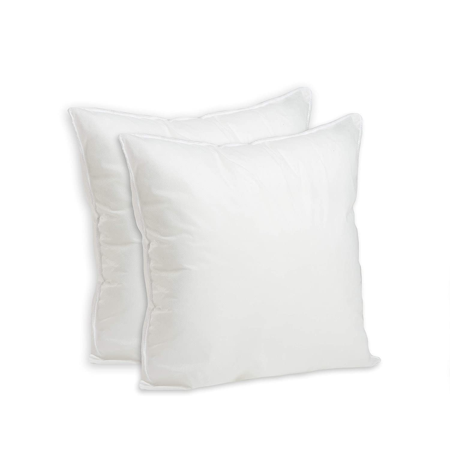 Set of 2-12 x 12 Premium Hypoallergenic Stuffer Pillow Insert Sham Square Form Polyester, Standard/White - Made in USA Foamily 2Pack-Pillow12