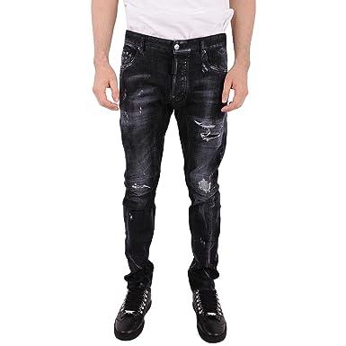 Dsquared - Jeans - Homme Noir 44 - - 52  Amazon.fr  Vêtements et ... 37b4ff854bdb