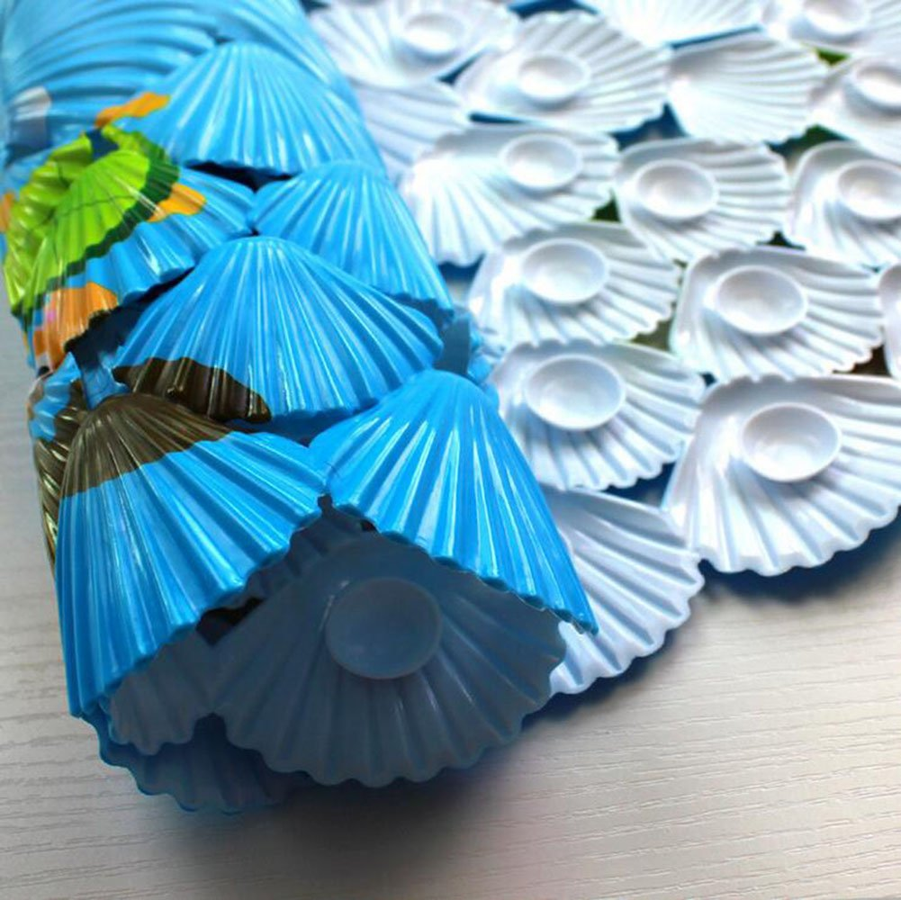 Wicemoon Tapis de Baignoire Antid/érapant Tapis de Douche avec VentouseTapis de Bain l/'Environnement Durable en Mati/ère PVC Anti-moisissure pour Salle de Bain