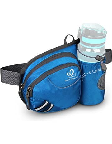 878b44c8f9a06 WATERFLY Hiking Waist Bag Fanny Pack with Water Bottle Holder for Men Women  Running   Dog