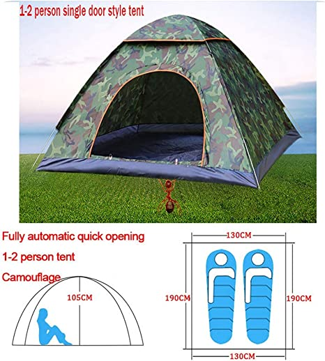 Automatic Pop Up Outdoor Family Camping Tent 1 2 3 4 Person