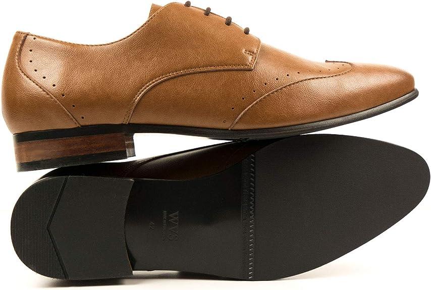Vegan Shoes Mens Slim Sole Brogues-UK