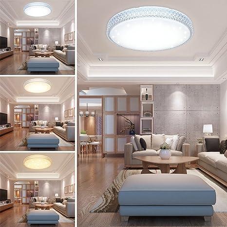 huigou Hg 60W Led Deckenleuchte Wandlampe Farbwechsel Deckenlampe 3In1  Kristall Deckenbeleuchtung Rund Lampe Wohnzimmer Flurleuchte Schlafzimmer  ...