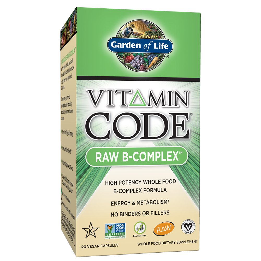 Garden of Life Vitamin B Complex - Vitamin Code Raw B Vitamin Whole Food Supplement, Vegan, 120 Capsules by Garden of Life
