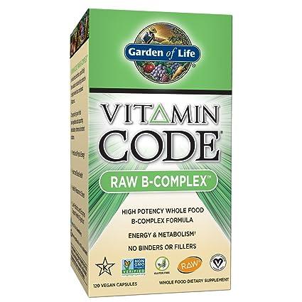 C_digo de la vitamina, crudo del complejo B, 120 Caps Vegan - Jard_n de