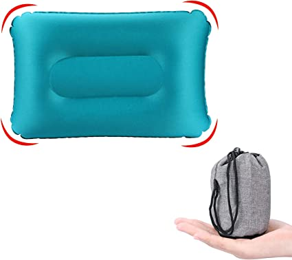 Ultralight Camping Pillow//Inflatable Air Pillow for Neck /& Lumbar Sleep, Travel