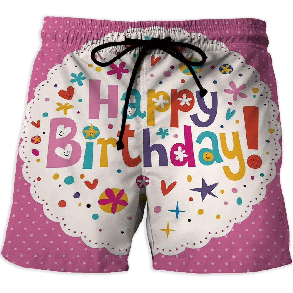 MOOCOM Printed Quick Drying Swimming Birthday Decorations Athletic Shorts Pockets Str At Amazon Mens Clothing Store