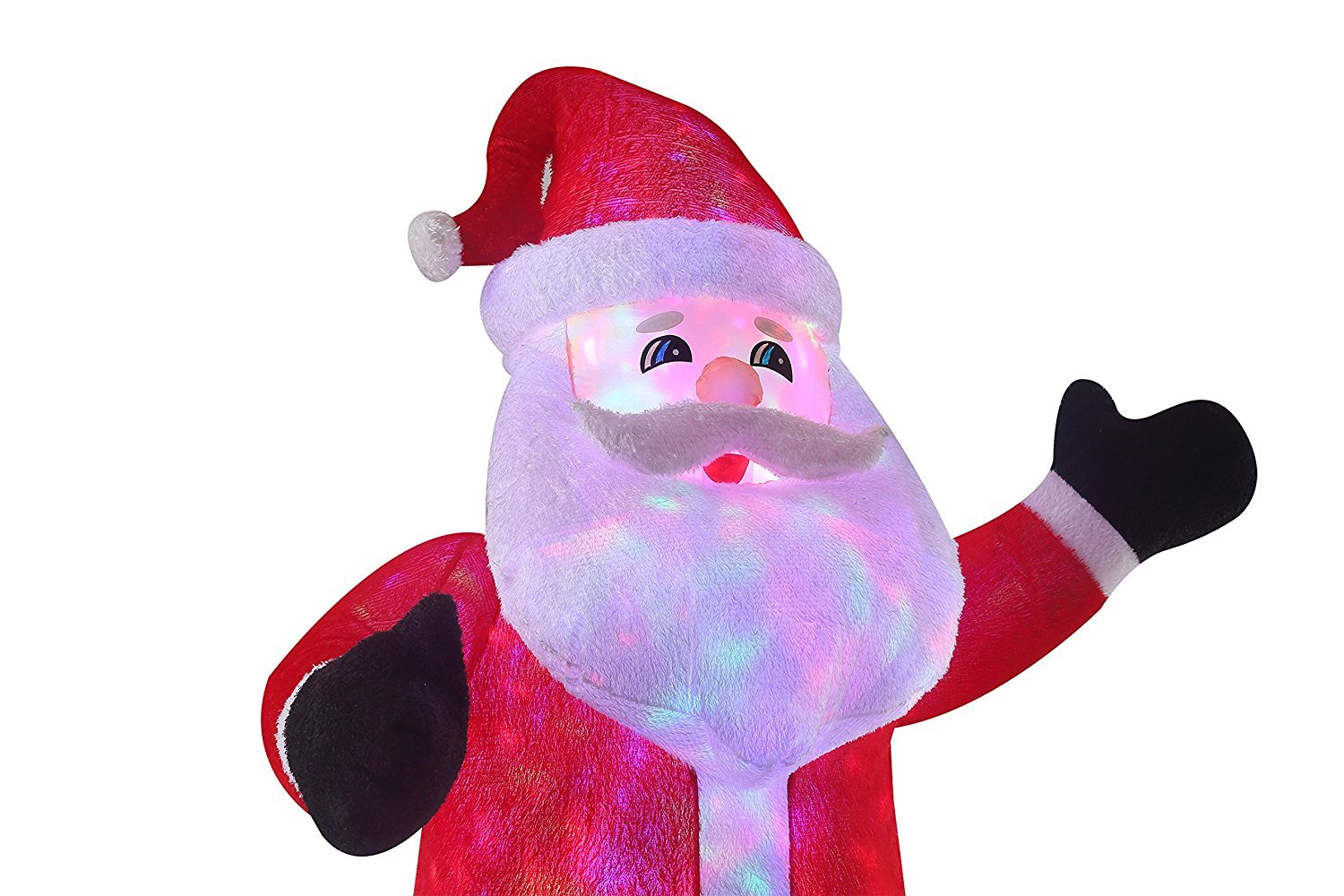 New 8 FT Inflatable Plush Santa Clause With 2pcs Disco Lights Christmas X'mas Decoration by Beyond Shop USA (Image #6)