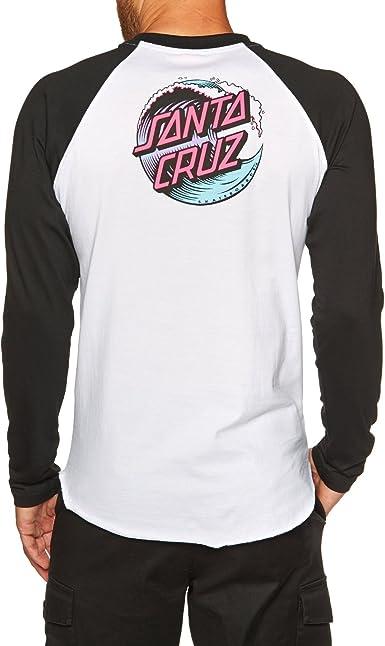 Santa Cruz Wave Dot - Camiseta de béisbol, Color Blanco y ...