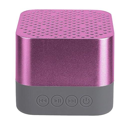 TianranRT★ Altavoz Portátil Bluetooth,Altavoz Portátil Inalámbrico Bluetooth Tarjeta Sd Para Teléfono Inteligente Tablet Pc Alta Calidad de Sonido,Oro ...