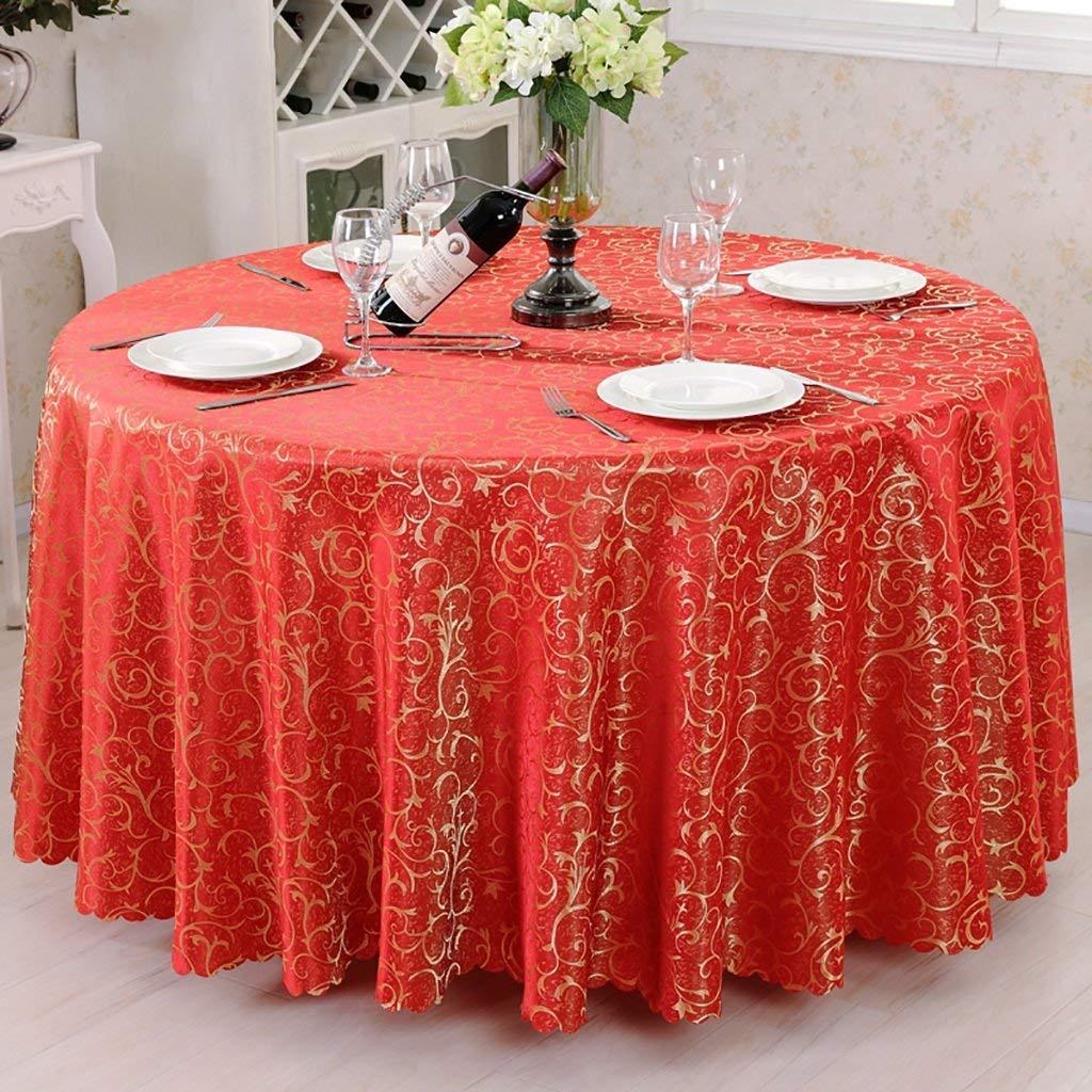Shuangdeng テーブルクロス、ポリエステルテーブルクロス、大きな赤いフラワーフックラウンドテーブルクロスユニークなパーティーディナーテーブル、レストラン、カフェ、ホテルに最適、ヨーロピアンスタイル (サイズ : Rond-280cm) Rond-280cm  B07SDMSWTF