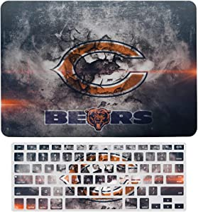 HeatherAssante Chicago Bears MacBook Air 13 inch Case,Plastic Pattern Hard Case&Keyboard Cover Only Compatible with MacBook Air 13