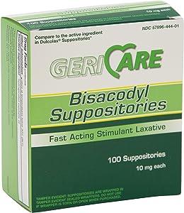 Medline Bisacodyl (Dulcolax) - Suppositories, 10 mg - Qty of 100 - Model OTC10199BX