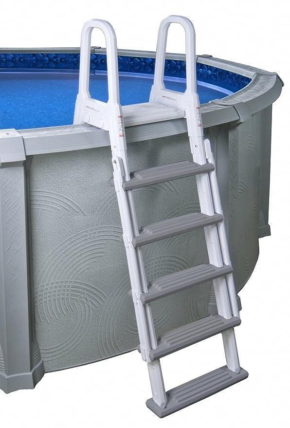 Amazon.com: Blue Wave - Escalera para piscinas sobre suelo ...