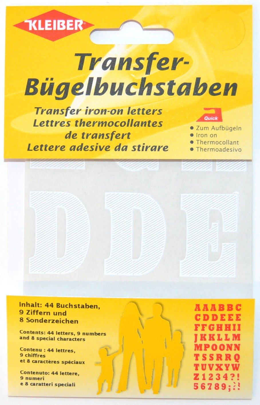 Blanc Kleiber 3.5 x 2.5 cm Lettres et Chiffres Autocollants